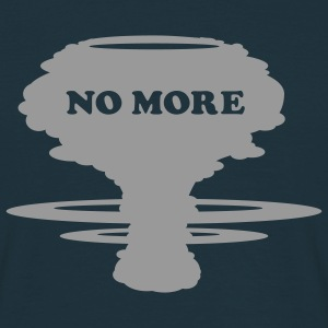 Marinblå No more! T-shirt - T-shirt herr
