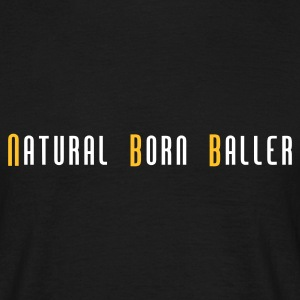 Zwart basketball natural born baller slogan T-shirts (korte mouw) - Mannen T-shirt