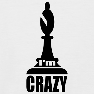 White/black i'm crazy T-Shirts - Men's Baseball T-Shirt