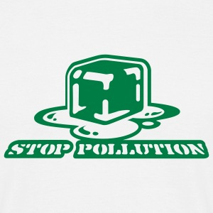 White stop pollution T-Shirts - Men's T-Shirt