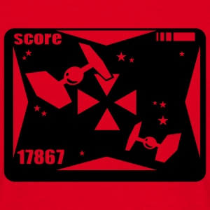 Rood High-score: 100 T-Shirts - Mannen T-shirt