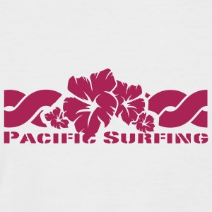 White/black Pacific Surfing T-Shirts - Men's Baseball T-Shirt