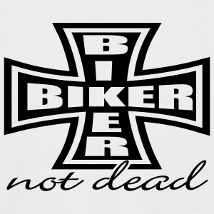 White/black Biker Cross T-Shirts - Men's Baseball T-Shirt