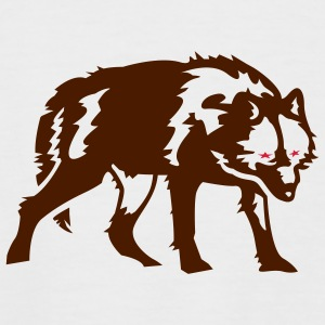 White/black Red-eyed Wolf T-Shirts - Men's Baseball T-Shirt