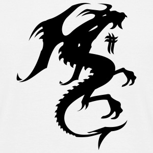 White Dragon Silhouette T-Shirts - Men's T-Shirt