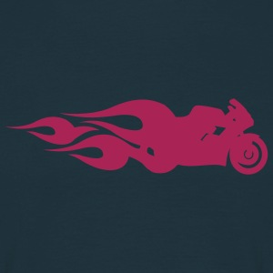 Navy Hot Bike T-Shirt - Männer T-Shirt