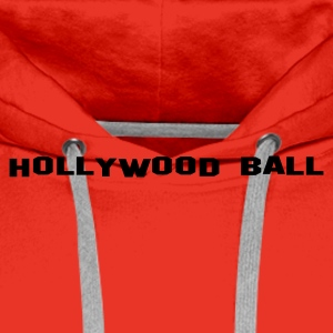 Red Hollywood Ball Men's Longsleeves - Men's Premium Hoodie