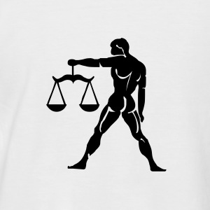 White/black Libra T-Shirts - Men's Baseball T-Shirt