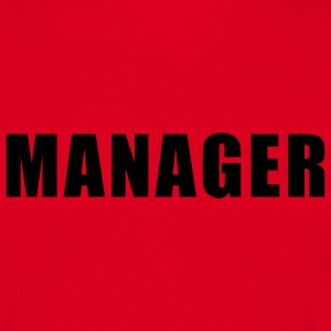 Rood Manager T-Shirts - Mannen T-shirt