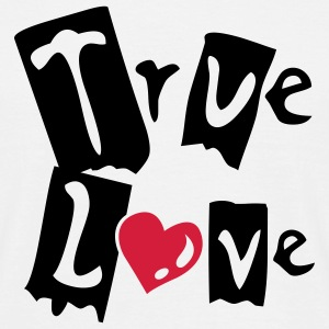 Vit True love T-shirt - T-shirt herr