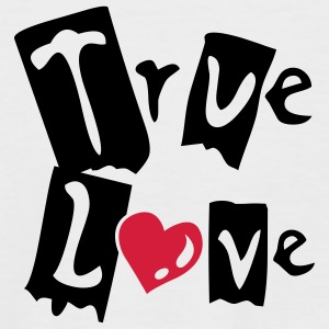 White/black True Love T-Shirts - Men's Baseball T-Shirt