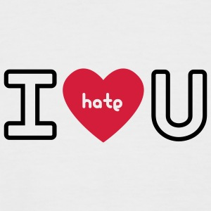 Weiß/navy I hate U T-Shirt - Männer Baseball-T-Shirt