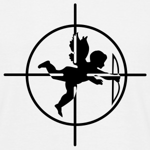 White Cupid in Crosshairs T-Shirts - Men's T-Shirt