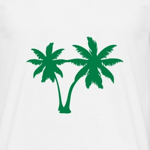 White palm trees T-Shirts - Men's T-Shirt