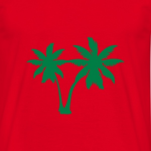 Red palm trees T-Shirts - Men's T-Shirt