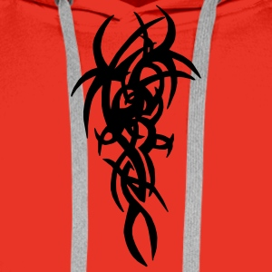 Red Tribal 3 Men's Longsleeves - Men's Premium Hoodie