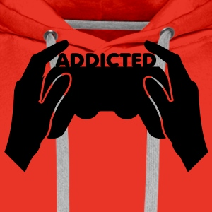 Red addicted Men's Longsleeves - Men's Premium Hoodie