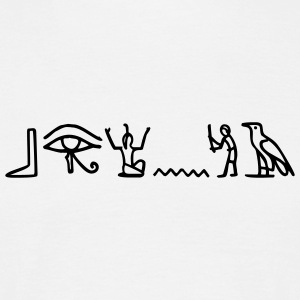 White hieroglyphics T-Shirts - Men's T-Shirt