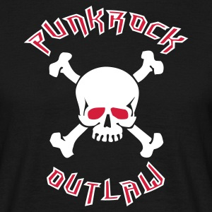 Black Punkrock Outlaw T-Shirts - Men's T-Shirt