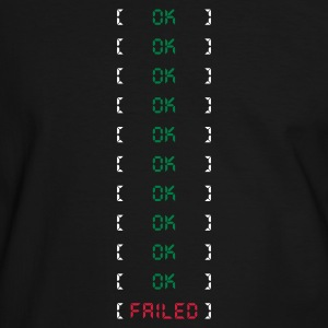 OK FAILED - Männer Kontrast-T-Shirt