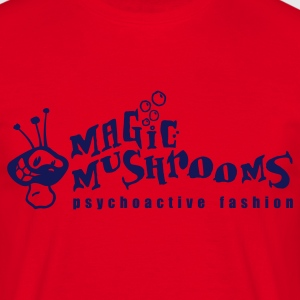 MagicMushrooms.at Logo - Rot/Blau - Männer T-Shirt