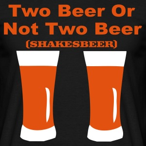 Zwart two beer T-shirts - Mannen T-shirt