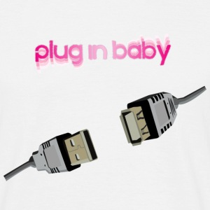 Blanc Plug in baby Hommes - T-shirt Homme