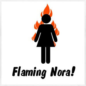 White flaming_nora T-Shirts - Men's T-Shirt