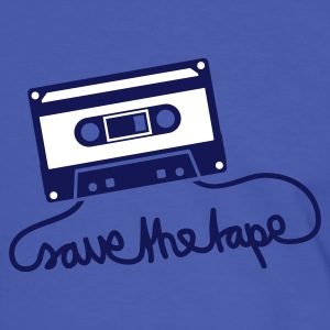 Bleu/blanc save the tape Hommes - T-shirt contraste Homme