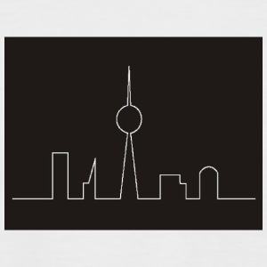 White/black Skyline Berlin T-Shirts - Men's Baseball T-Shirt