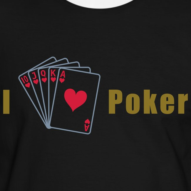 I Love Poker Mens Slim Silber-Gold