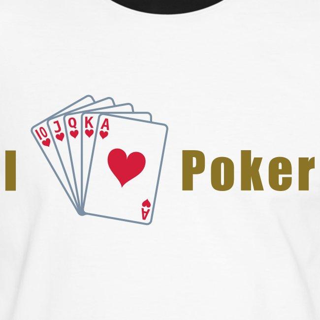 I Love Poker Mens Slim Silber-Gold