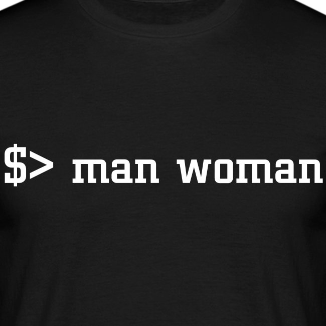 "T-Shirt ""man woman"" (s/w)"