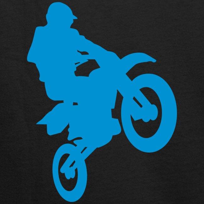 felpa cross azzurra
