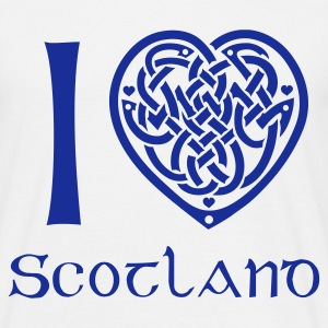 White I love Scotland T-Shirts - Men's T-Shirt