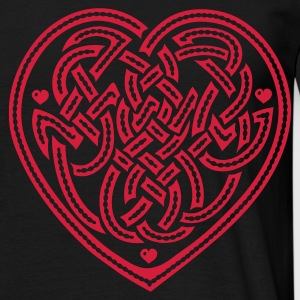 Black Celtic Heart T-Shirts - Men's T-Shirt