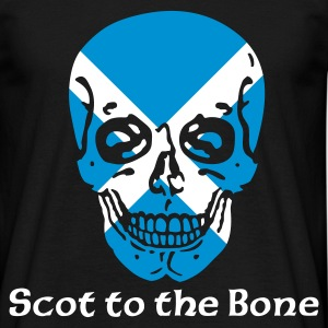 Black Scot to the Bone T-Shirts - Men's T-Shirt