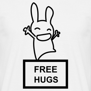 Blanc Lapin Free Hugs Hommes - T-shirt Homme