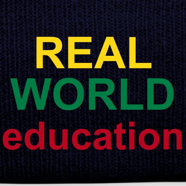 Real World Education winter hat blue