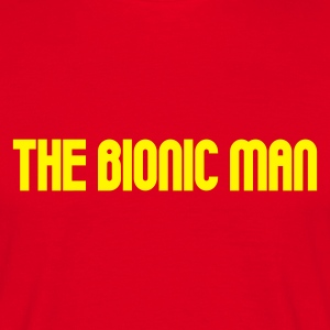 Red The Bionic Man Men's Tees (short-sleeved) - Men's T-Shirt