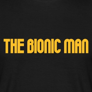 Black The Bionic Man Men's Tees (short-sleeved) - Men's T-Shirt
