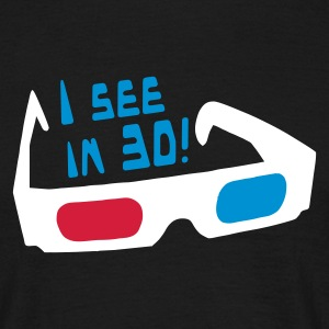 Black I see in 3D! logo T-Shirts - Men's T-Shirt