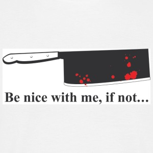 Blanc be_nice_with_me T-shirts (m. courtes) - T-shirt Homme