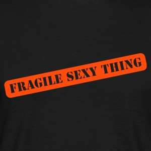 Noir fragile sexy thing T-shirts (m. courtes) - T-shirt Homme
