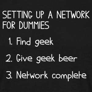 Black Setting up a network for dummies T-Shirts - Men's T-Shirt