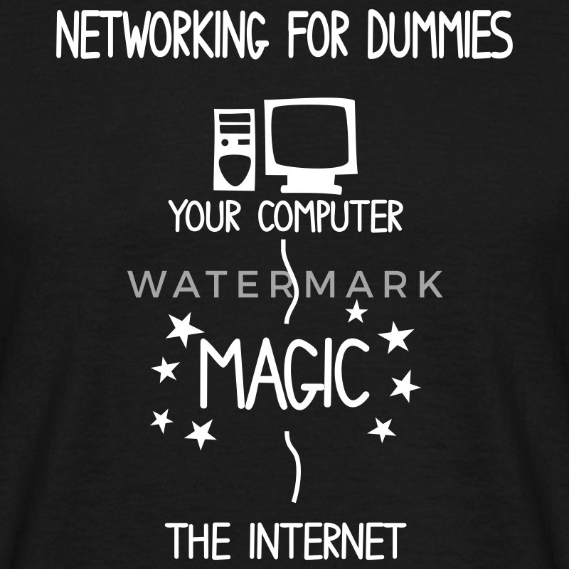 Network Schematics for Dummies - Men's T-Shirt