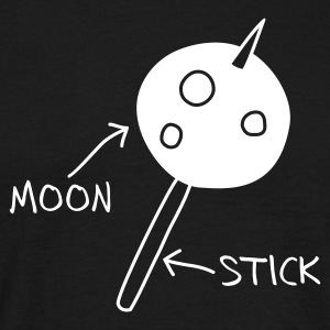 Black Moon on a Stick (dark background) T-Shirts - Men's T-Shirt