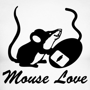 Silver/charcoal Mouse Love (With Text) Men's Longsleeves - Men's Long Sleeve Baseball T-Shirt