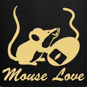 Black Mouse Love (With Text) Gifts - Cooking Apron
