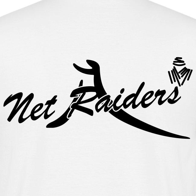 Uomo: T-Shirt Bianca - Logo nero sul retro